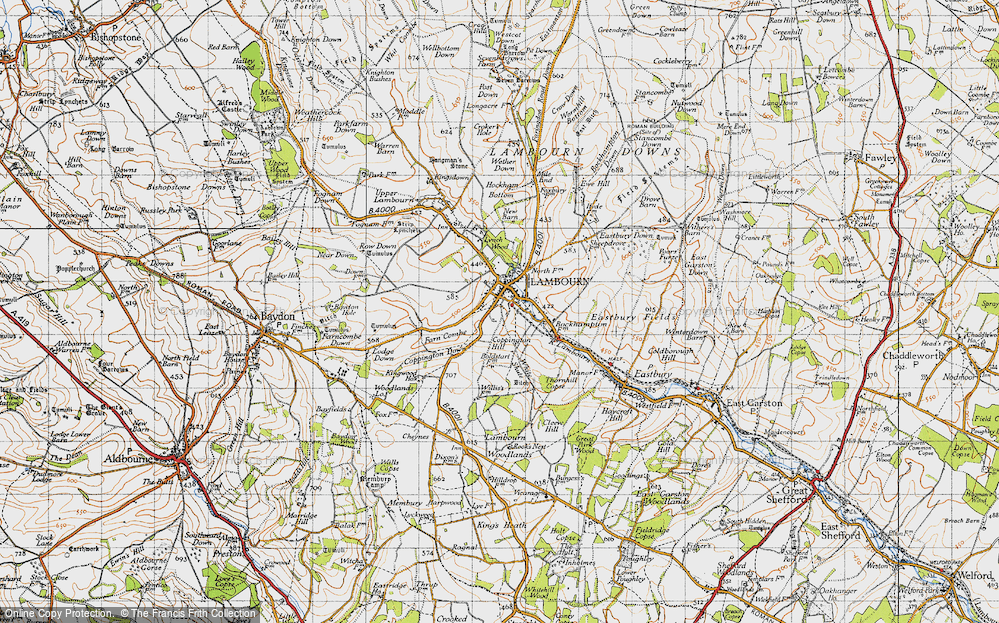 Old Map of Lambourn, 1947 in 1947