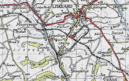 Old map of Lamellion in 1946