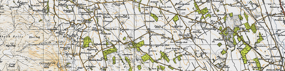 Old map of Wood Close in 1947