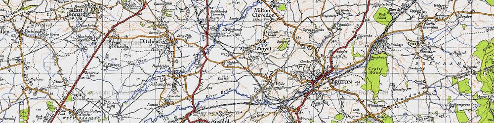 Old map of Wyke Ho in 1946