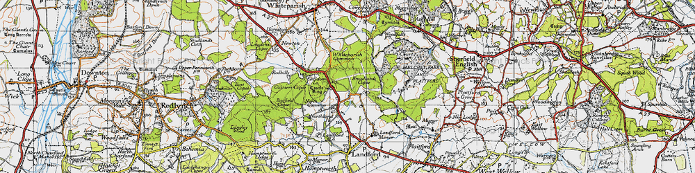 Old map of Whiteparish Common in 1940