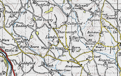 Old map of Barkingdon Manor in 1946