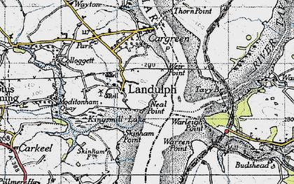 Old map of Landulph in 1946