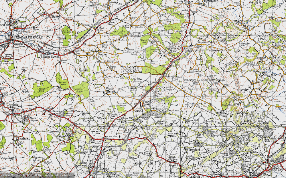 Old Map of Lane End, 1945 in 1945
