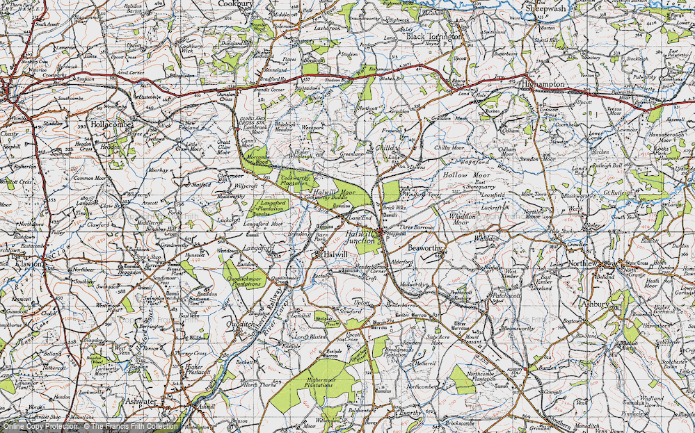 Old Map of Lane End, 1946 in 1946