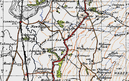 Old map of Waberthwaite in 1947