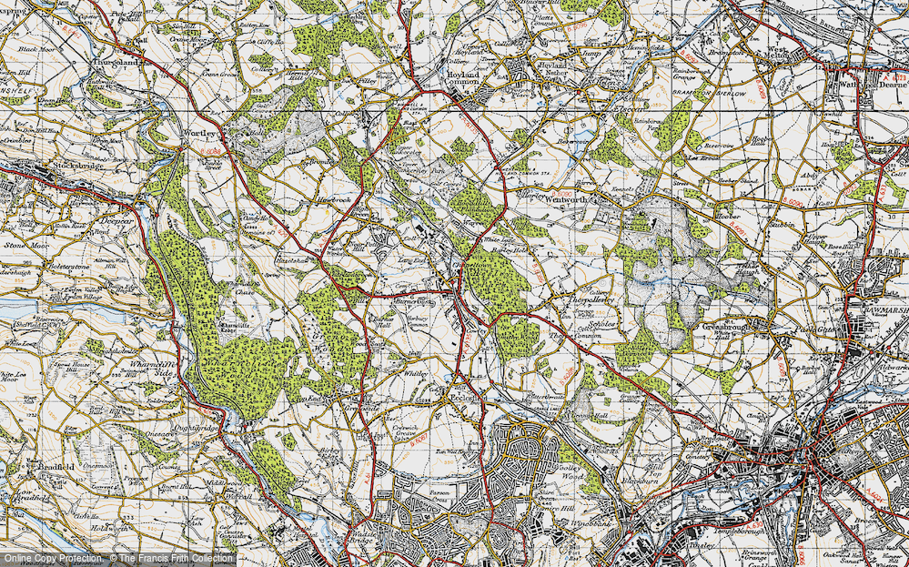 Old Map of Lane End, 1947 in 1947
