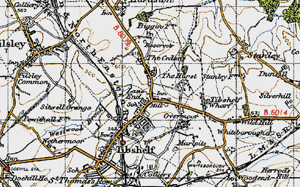 Old map of Tibshelf Services in 1947