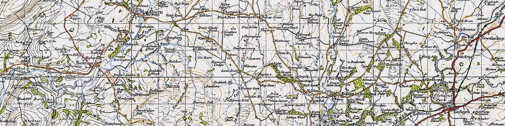 Old map of Westmoor in 1947
