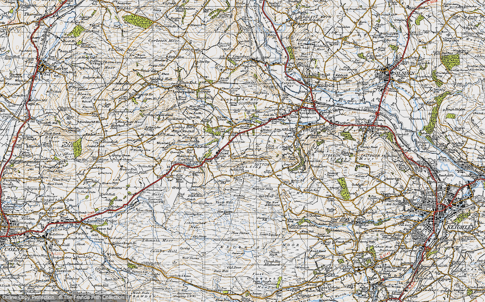 Old Map of Lane Ends, 1947 in 1947