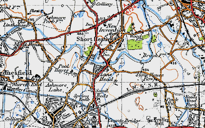 Old map of Lane Head in 1946