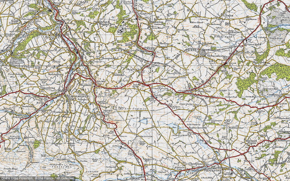 Old Map of Lane Head, 1947 in 1947