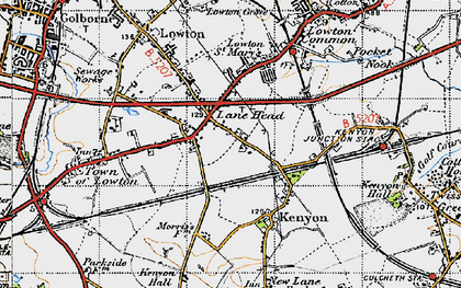 Old map of Lane Head in 1947