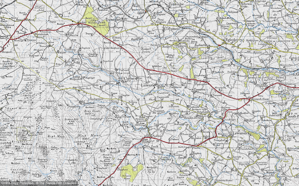 Old Map of Laneast, 1946 in 1946