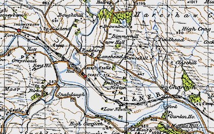 Old map of Whitchester Moor in 1947