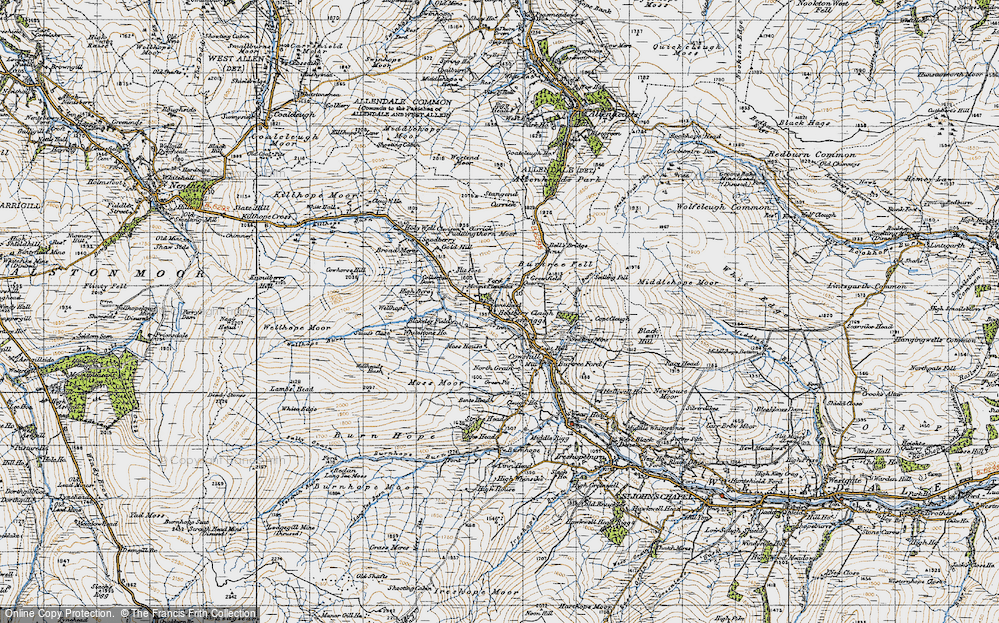 Old Map of Lanehead, 1947 in 1947