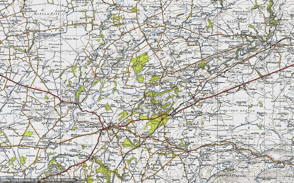 Old Map of Lanercost, 1947 in 1947