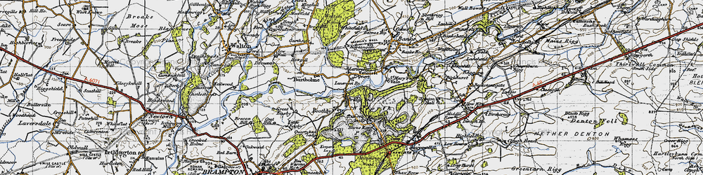 Old map of Lanercost in 1947