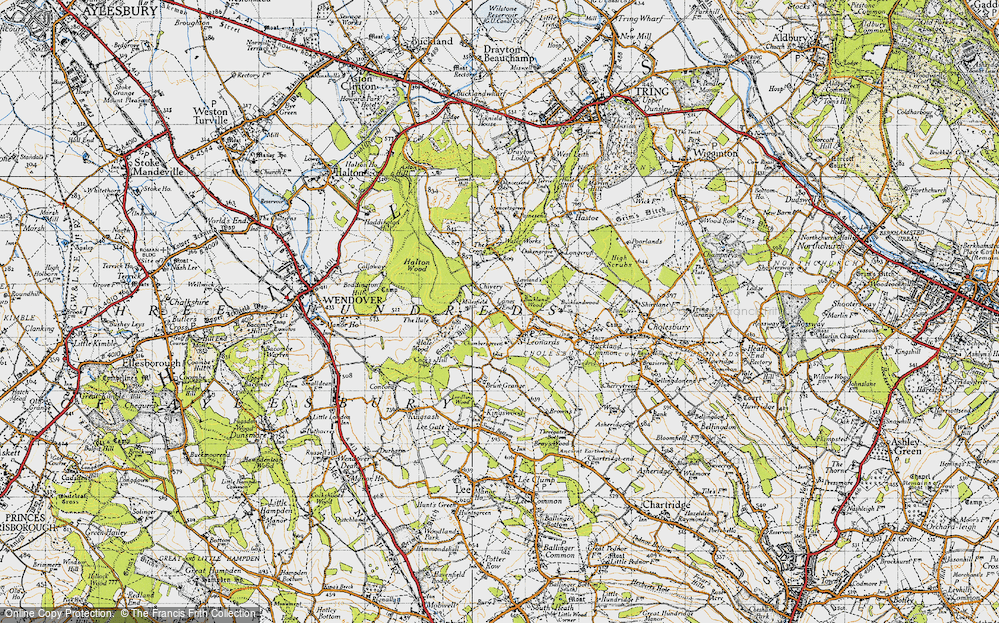 Old Map of Lanes End, 1946 in 1946