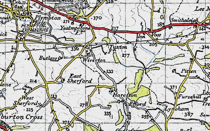 Old map of Langage in 1946