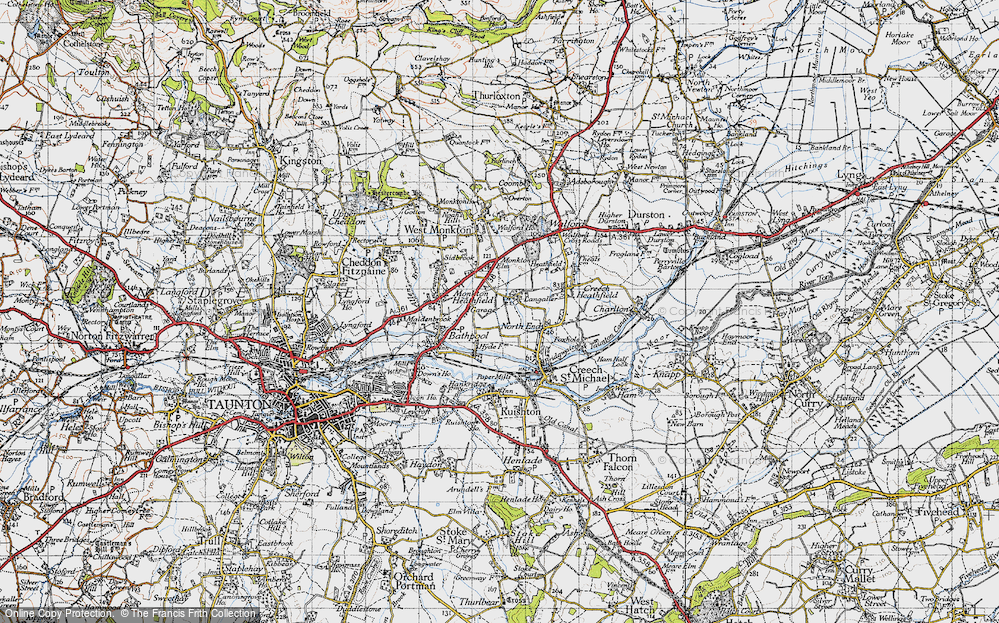 Old Map of Langaller, 1946 in 1946