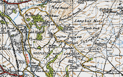 Old map of Ling Park in 1947