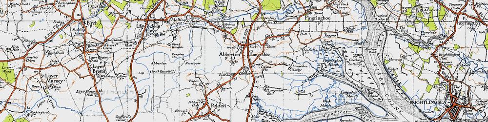 Old map of Langenhoe Hall in 1945