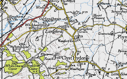 Old map of Langford in 1946