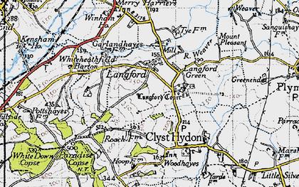 Old map of Winham in 1946