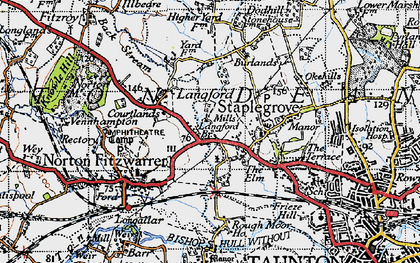 Old map of Back Stream in 1946