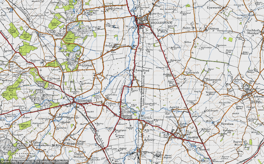 Old Map of Langford, 1946 in 1946
