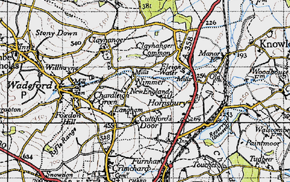 Old map of Langham in 1945