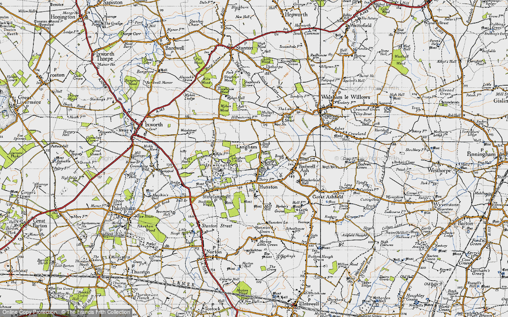 Old Map of Langham, 1946 in 1946