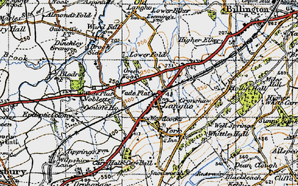 Old map of Langho in 1947
