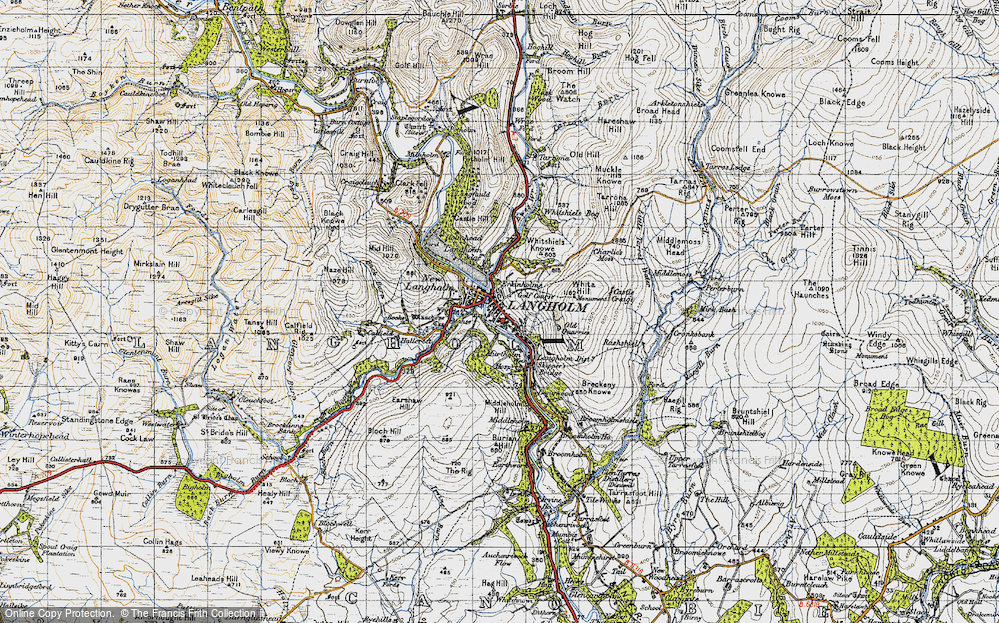 Old Map of Langholm, 1947 in 1947