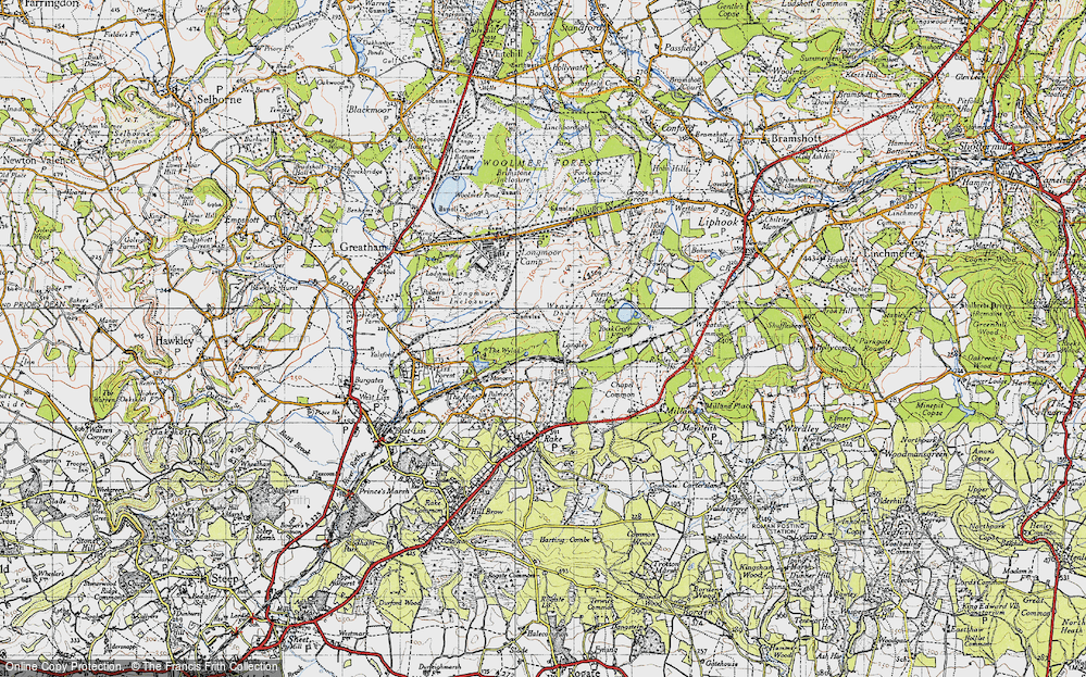 Old Map of Langley, 1940 in 1940