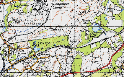 Old map of Wylds, The in 1940