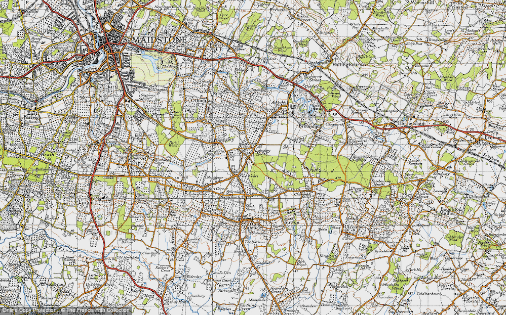 Old Map of Historic Map covering Abbey Wood in 1940