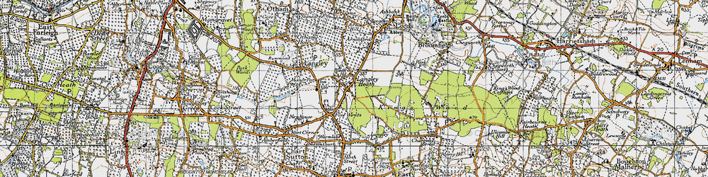 Old map of Abbey Wood in 1940