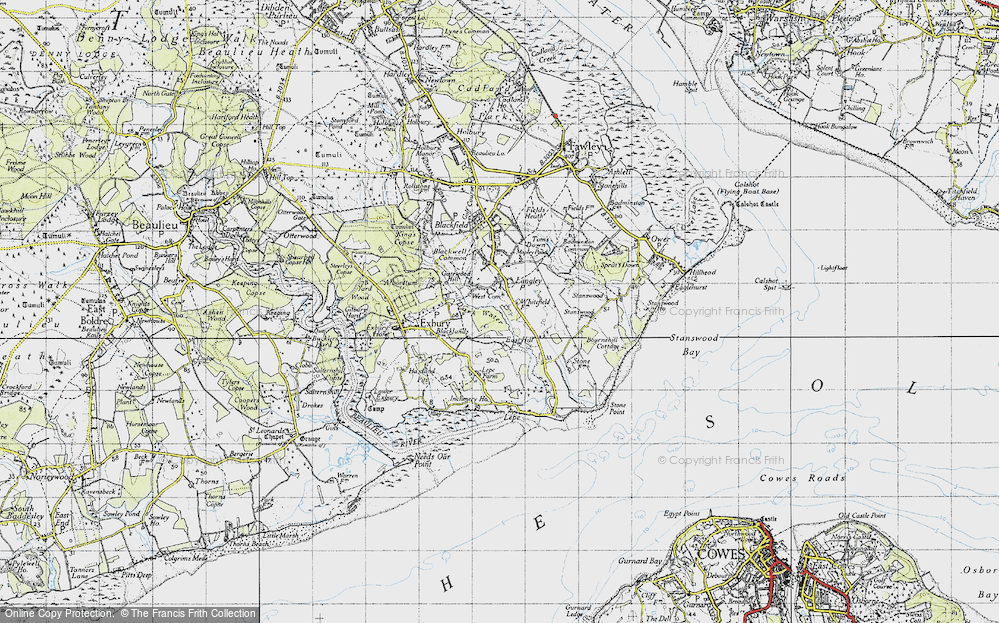 Old Map of Langley, 1945 in 1945