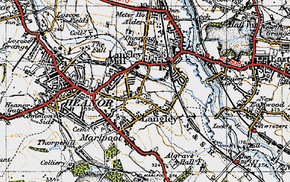 Old map of Langley in 1946