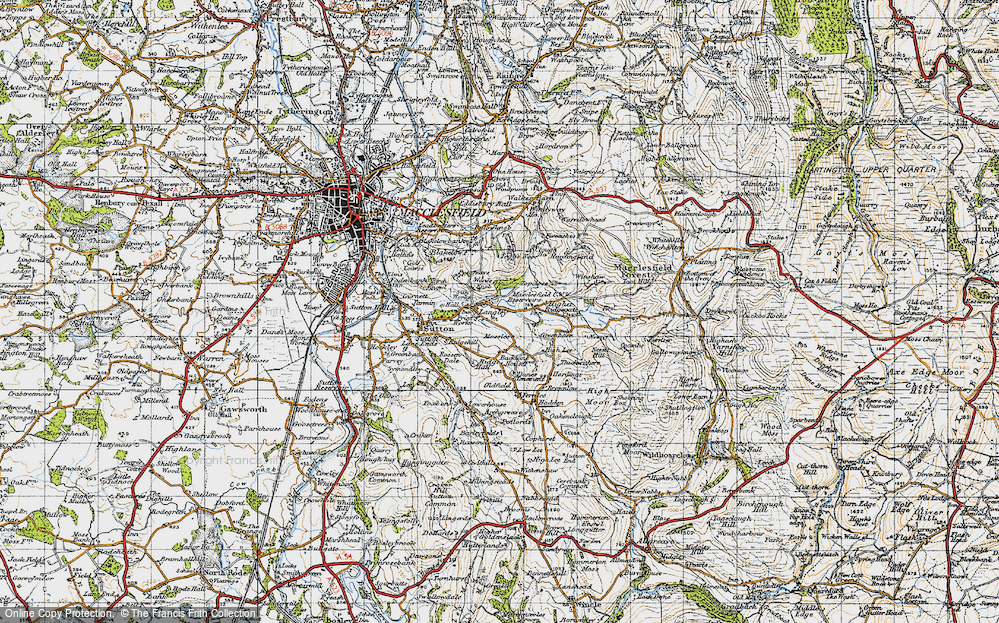 Old Map of Langley, 1947 in 1947
