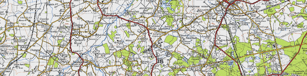 Old map of Langley Common in 1940