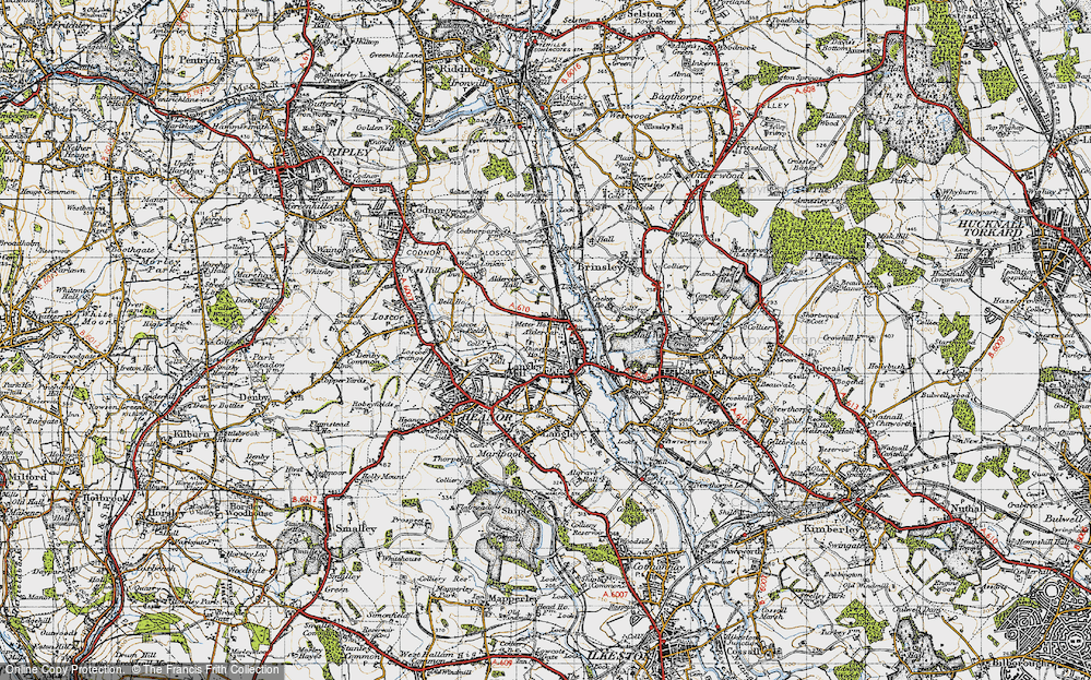Old Map of Langley Mill, 1946 in 1946
