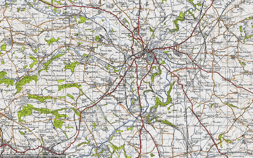 Old Map of Langley Moor, 1947 in 1947