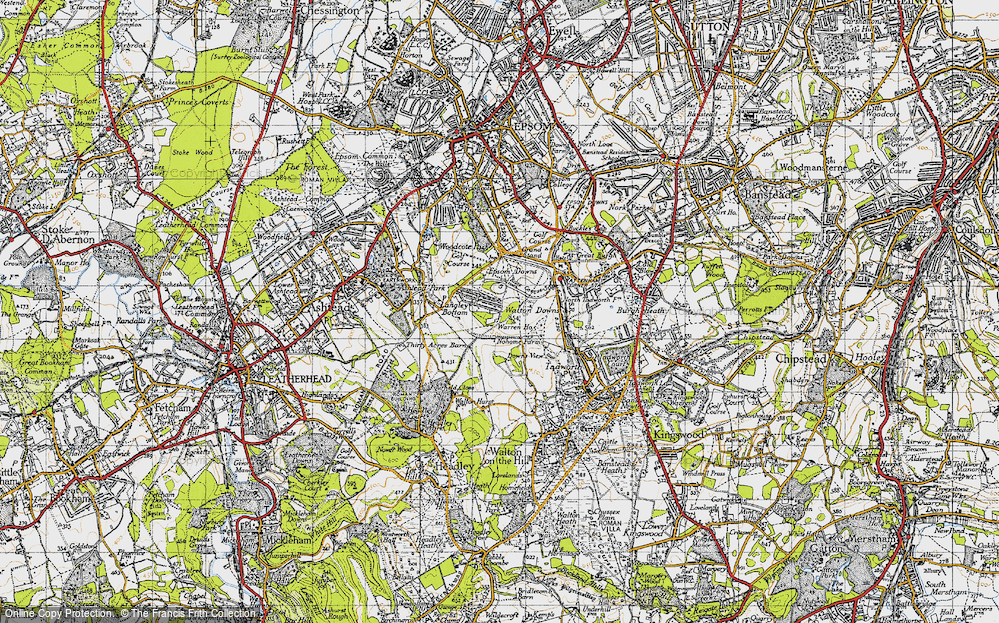 Old Map of Langley Vale, 1945 in 1945