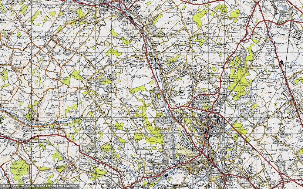 Old Map of Langleybury, 1946 in 1946