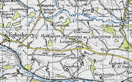 Old map of Langore in 1946