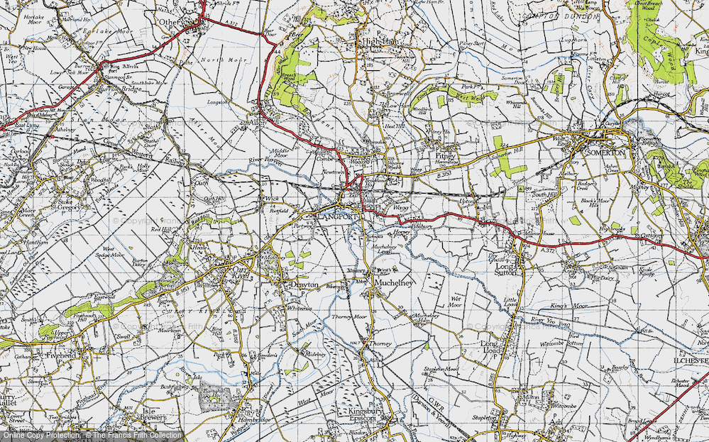 Old Map of Langport, 1945 in 1945