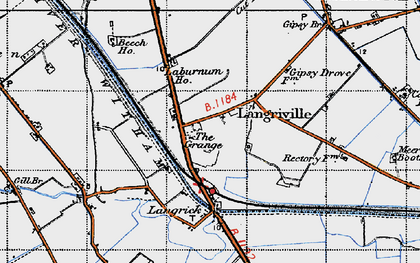 Old map of Langrick Grange in 1946